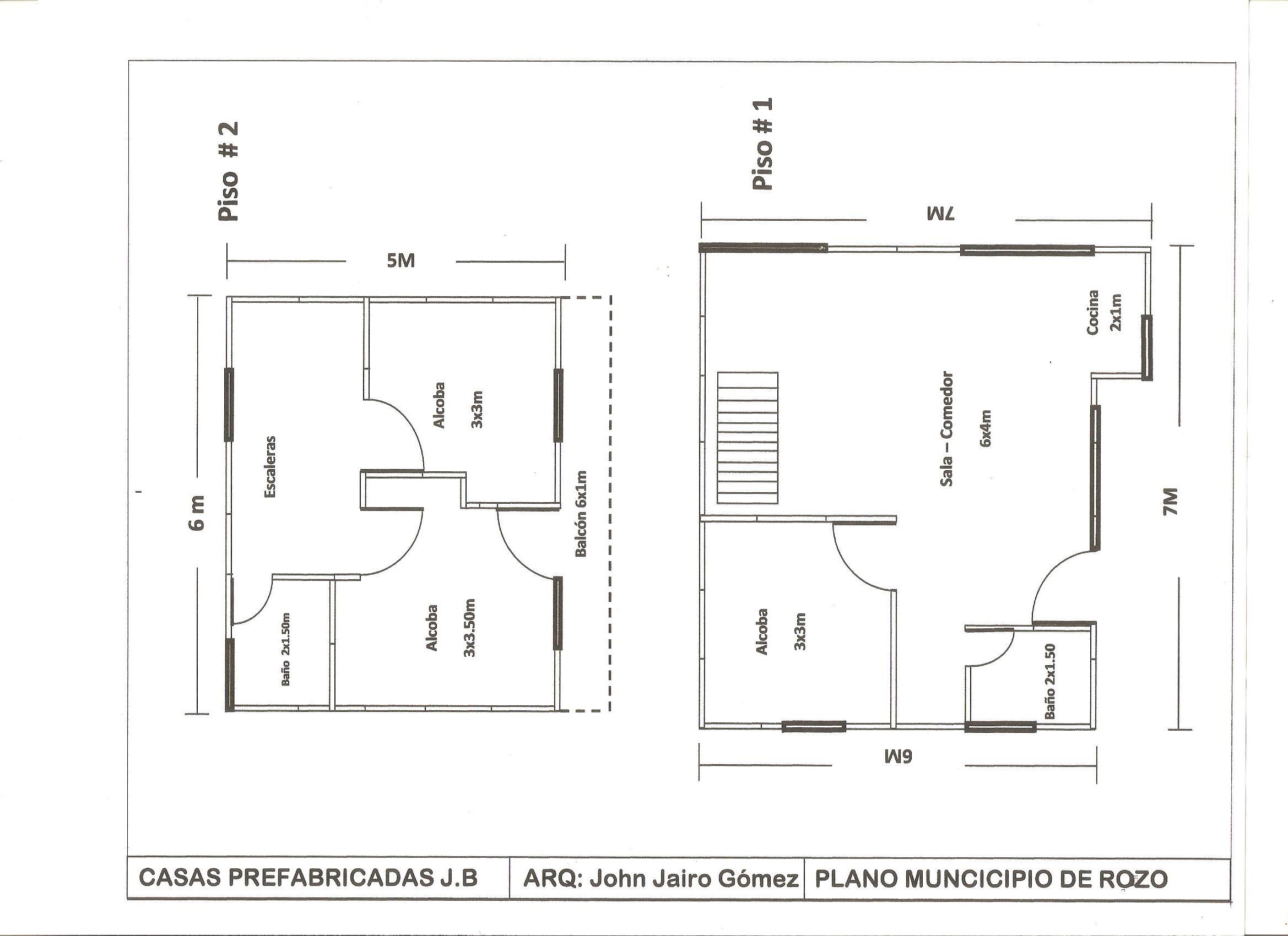 Planos casas prefabricadas bonilla for Planos de casas 90m2