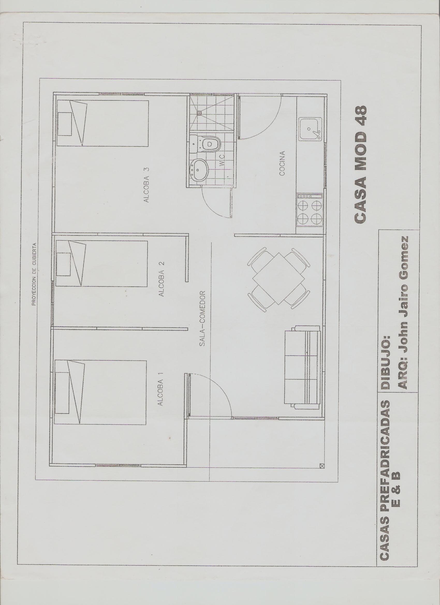 Planos Casas Prefabricadas Bonilla
