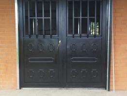 Puerta metálica doble #2